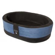 Orthopedische Hondenmand Paddy Style blauw microvezel 90 x 60 x 25 cm
