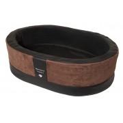 Orthopedische Hondenmand Paddy Style bruin microvezel 90 x 60 x 25 cm